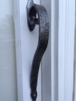 Custom forged large door handle: $80
