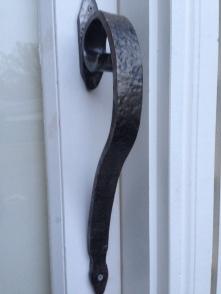 Custom forged large door handle: $80