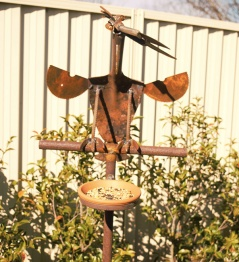 Curious Bird and feeder: $220