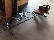 Horseshoe boot rack: $80