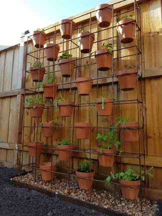 Vertical Plant Stand: $190 (+ $95 for pots)